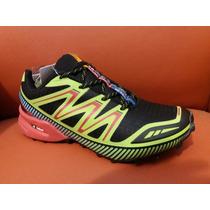 Zapatilla I-run De Running Negra Verde