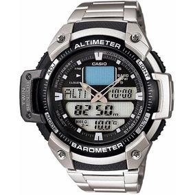 Relógio Casio Outgear Sgw-400-hd Altimetro Barometro Aço Sgw