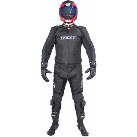 Macacao Moto Couro Esportivo Texx Ghost 2 Pecas Preto