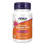 Now Vitamina D3 Ayuda Corazon Huesos 5,000iu 120 Masticables