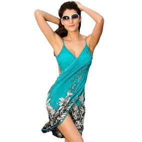 Vestido Pareo Cover Up Playero Cubre Traje De Baño Playa