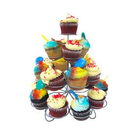 Base Acero Inoxidable 23 Cupcakes (quequitos) Reposteria Hm4