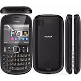 Celular Nokia Asha 200 2mp Qwerty 2g Preto Com Nota *seminov