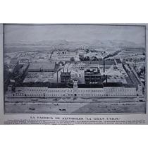 Fotograbad Antiguo Fabrica De Vinos La Gran Union 1912 Zxc
