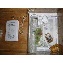 Kit Misal Set Vela Primera Comunion Niño Moño Rosario Biblia