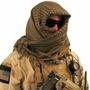 Shemagh Lenço Tático Árabe Proteção Airsoft Jogo Bandoleira