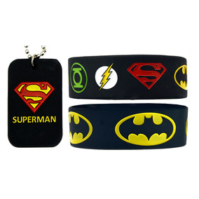 Pulseras Y Collar Batman Vs Superman & Liga De La Justicia