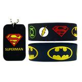 Pulseras Y Collar Batman Vs Superman & Liga De La Justicia