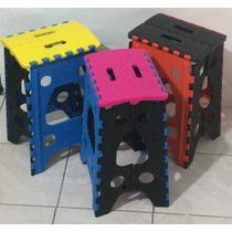 Paquete De 10 Bancos De Plástico Plegables