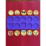 Molde Silicona Emoji Emoticon Reposteria Porcelana Fria