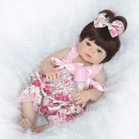 Bebe Reborn Boneca Victoria 55 Cm 100% Silicone Sob Encomend