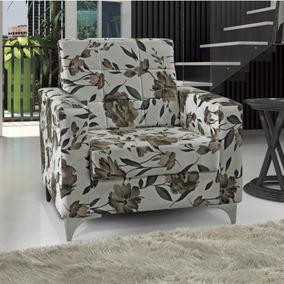 Poltrona Decorativa Thainá Matrix Marrom Hcwt