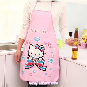 Delantal Mandil Hello Kitty Mod2 - Moldes Kawaii Cocina Rosa