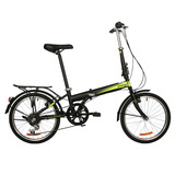 Bicicleta Dtfly City Plegable Shimano 6 Speed Negro/amarillo