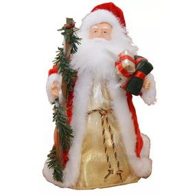 Papai Noel Luminoso E Musical Cores Que Mudam Aleatoriamente