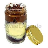 80 Pote Comprido De Vidro Com Tampa Prata Ou Dourada 115ml