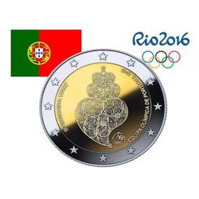 Moeda Portugal Na Olimpíada Rio 2016 (2 Euros Bimetálica) Fc