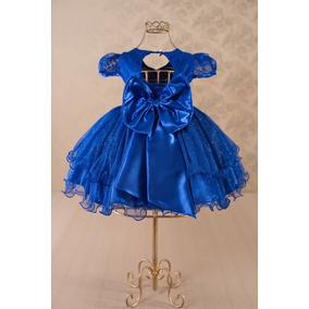 Vestido de festa azul royal infantil