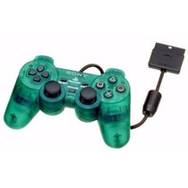 Kit 2 Controle Joystick Ps2 Playstation 2 Transparente