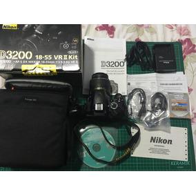 Nikon D3200 Vr Ii Kit Bolsa Cartão 32gb Nf Manual Roya Uv
