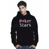 Moletom Poker Stars Jogador Blusa Casaco Canguru Frio