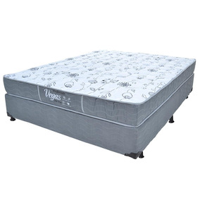 Cama Box Casal Probel + Colchão Prolastic Vegas Sleep Gray
