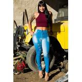 Calça Jeans Feminina Azul Claro Rasgada Destroyer Rasgadinha