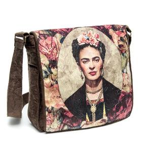 Bolsa Feminina Frida Kahlo Retratol Com Tampa