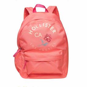 Mochila Hollister Rosa Com A Logo 100% Original