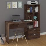 Mesa Para Computador Com Estante Elisa Permobili Café Ia