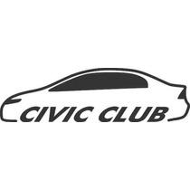 Adesivo Decorativo Automotivo Honda Civic Clube