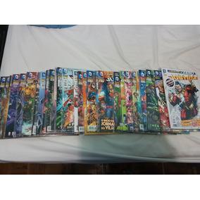 Revista Hq Lote Os Novos 52 Liga Da Justiça: 0 Ao 27