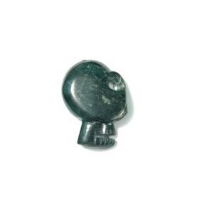 Perfil De Cráneo Maya De Jade Genuino.
