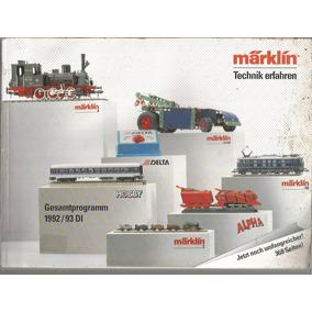 Catalogo / Marklin / Technik Erfahren /1992-93 Di