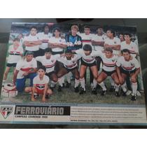 Poster Placar Ferroviário Campeão Cearense 1988 21x27cm