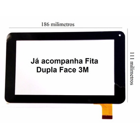 Tela Vidro Touch Screen Tablet Dl Style I-style T71 G71 7pol