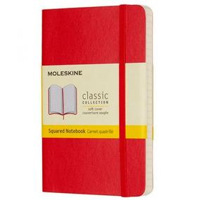 Caderno Escarlate Quadrado Moleskine Pequeno Vermelho