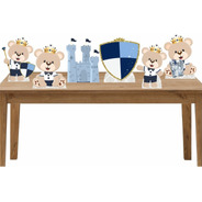Kit 6 Displays Mesa Decoração Festa Ursinho Príncipe