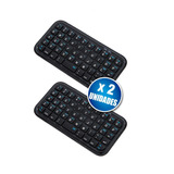 Pack X2 Mini Teclado Inalambrico Bluetooth Android Ios