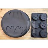 Set Molde Torta + Muffin De Batman Silicona
