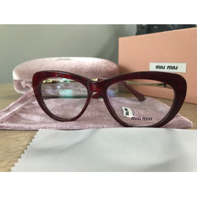 1d88080390868 Armacao Feminina Armacoes Miu - Óculos no Mercado Livre Brasil