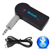 Receptor Bluetooth Entrada Auxiliar Recargable Manos Libres