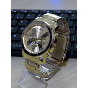 a24ac0b0eda Relogio Esqueleto Dourado Importado Masculino Bvlgari - Relógios De ...