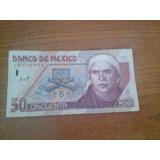 Billete 50 Pesos De Jose Maria Morelos, De Papel Año 1998