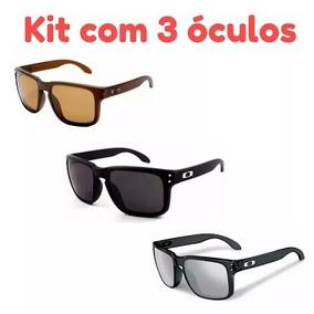 Óculos Oakley Holbrook Preto Dourado Frete Gratis - Óculos no ... 24351f9403
