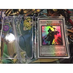 Blood Mefist - Super Rare Mint - Carta Prêmio Yugioh En