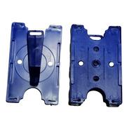 50 Porta Credenciales Giratorio Azul