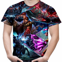 Camiseta Masculina Jogo League Of Legends Camisa Lol Md03