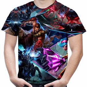 Camiseta Masculina Estampa Total League Of Legends Md03