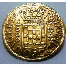 Moeda De Ouro 4000 Reis 1699 - Original - Soberba Rara